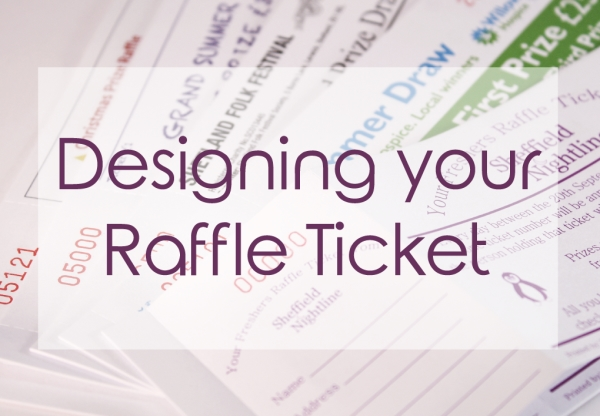 designing your raffle tickets